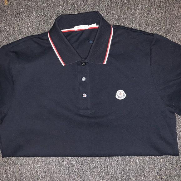navy moncler polo shirt